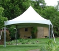 15 x 15 foot White Installed Frame Tent