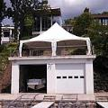 20 x 30 foot White Installed Frame Tent