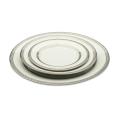 White with Silver Rim Dinnerware Pattern