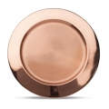 13 inch Round Metal Copper Charger