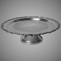 21 inch Silver Cake Stand