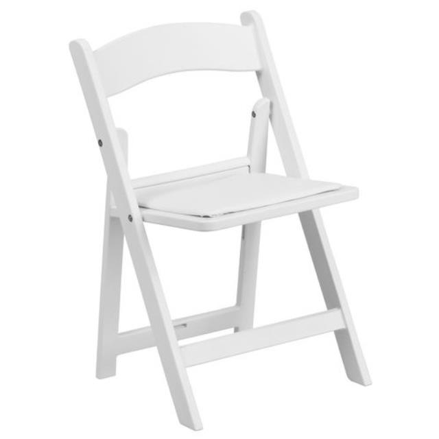 White Padded Folding Child Chair