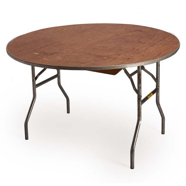 48 inch Round Wood Top Table