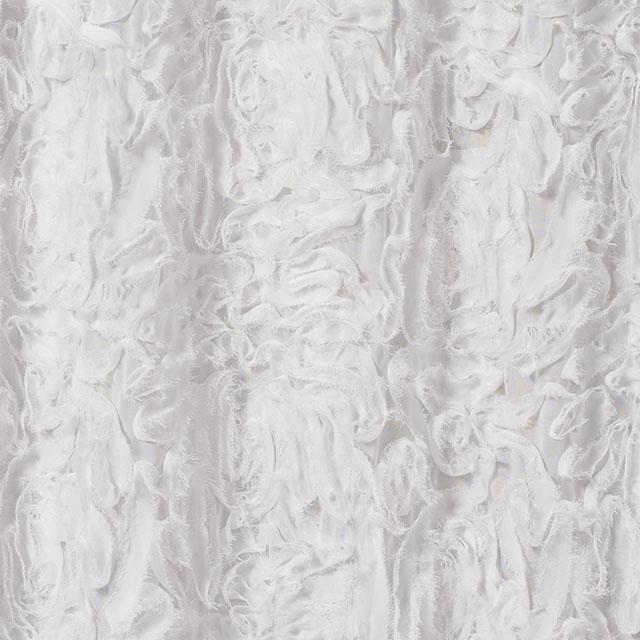 4 x 16 foot Ribbon Swirl Sheer Drape