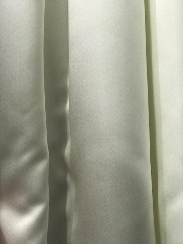 5 x 16 foot Ivory Satin Drape