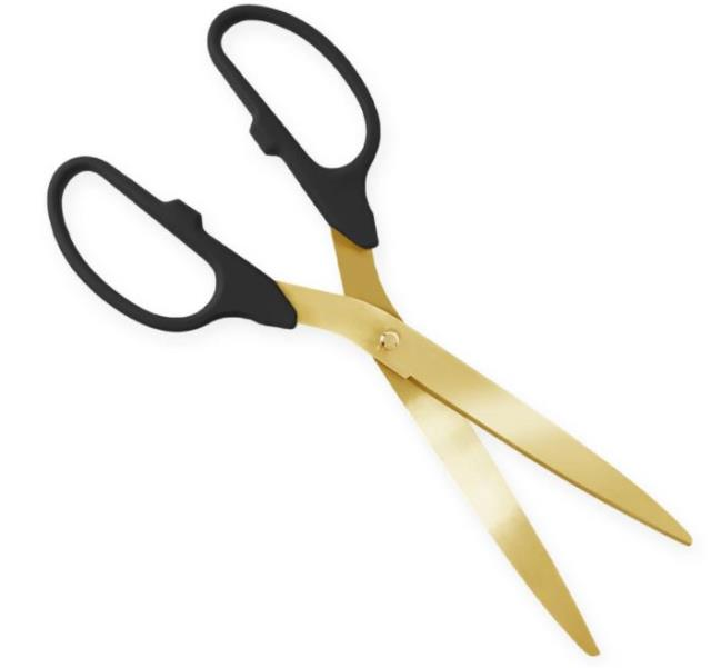 25 inch Gold Ceremonial Scissors