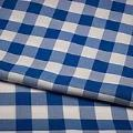 Blue/White Check Poly Napkin Pack of 12