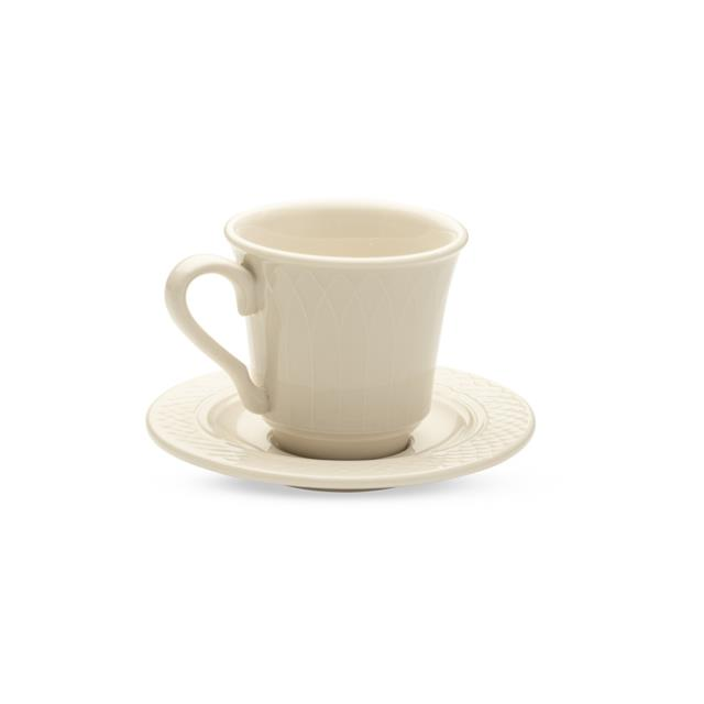 Plain Ivory Cup & Saucer – 20 per Rack