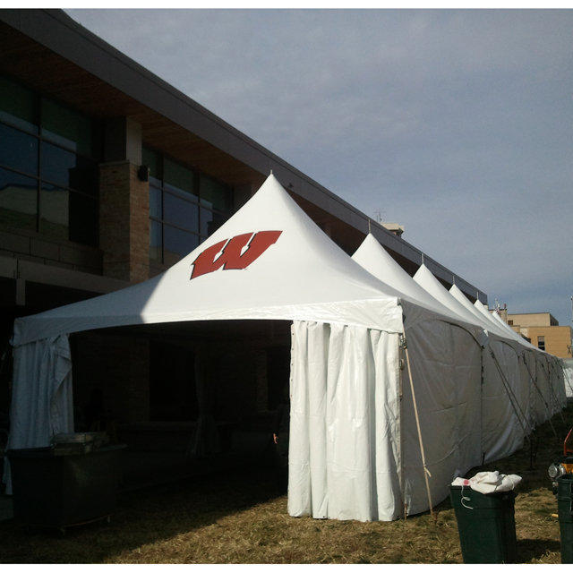 20 x 20 foot Motion W Installed Frame Tent