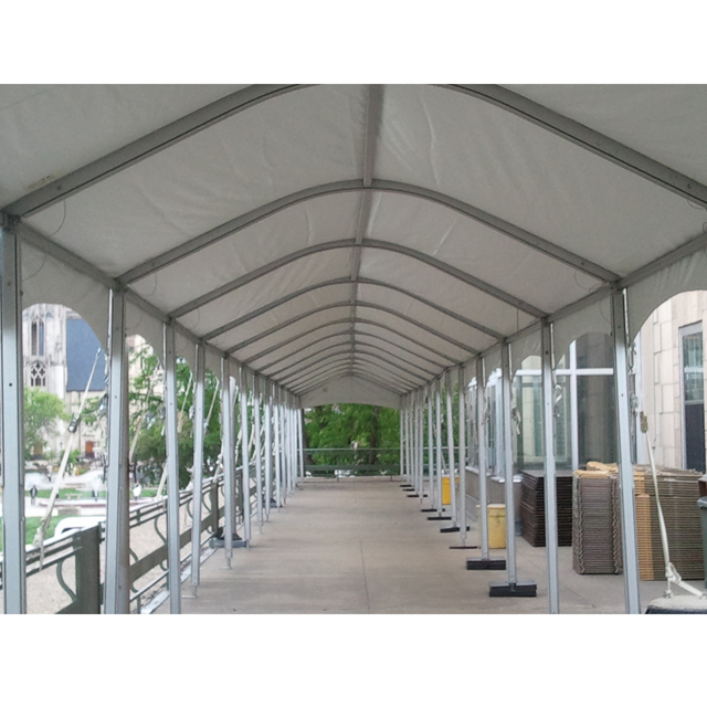 10 x 10 foot White End Installed Frame Marquee