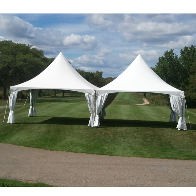 20 x 40 foot White Installed Frame Tent