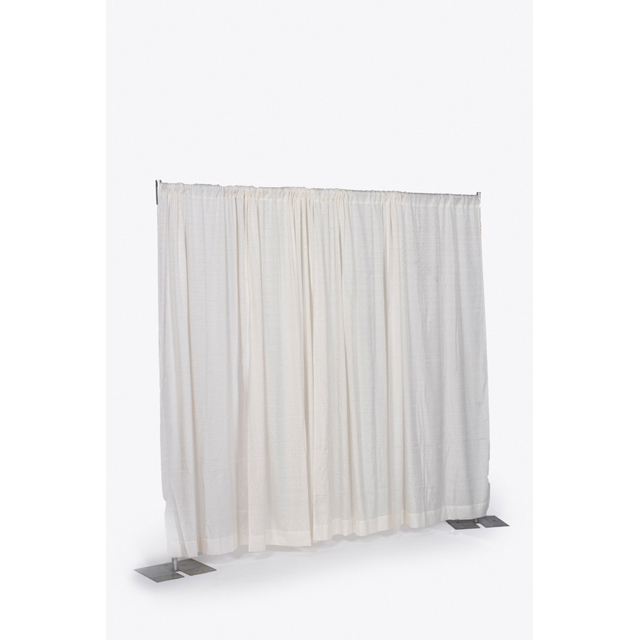8 foot High x 6-10 foot Wide Off White Pipe & Drape Section