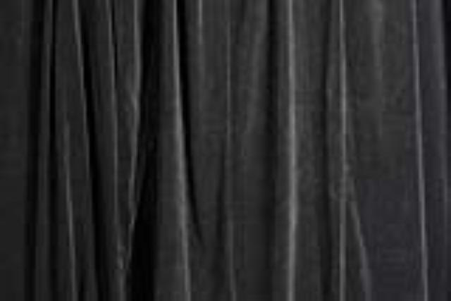Black Velour Pipe & Drape Section 9-16 foot High x 6-10 foot Wide