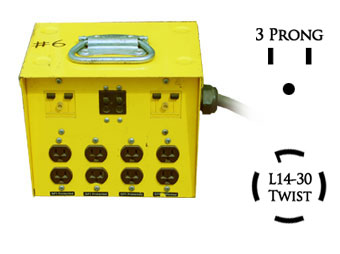 30 amp 8 plug Distribution Box