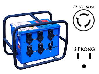 50 amp 6 plug Distribution Box
