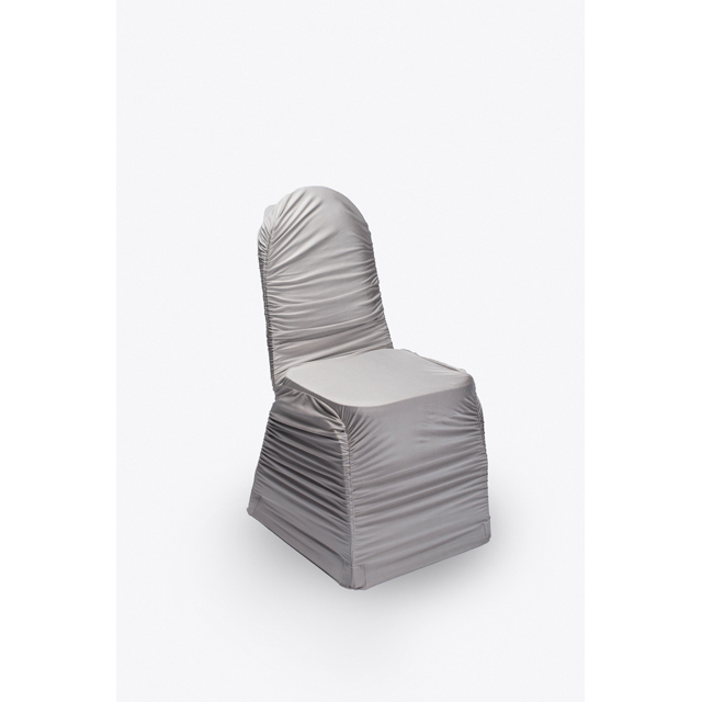 Silver Spandex Chair Cover