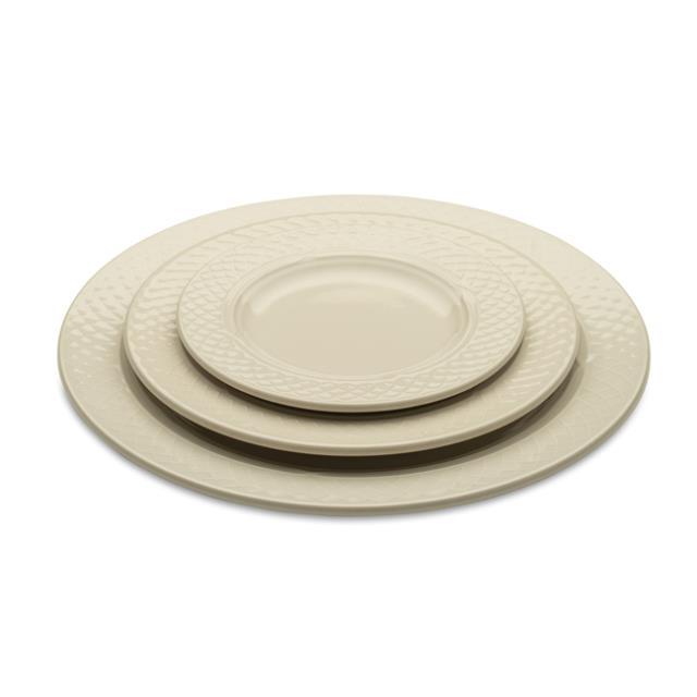 Plain Ivory Dinnerware Pattern