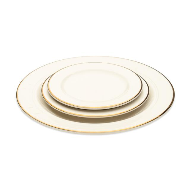Ivory with Gold Rim Dinnerware Pattern