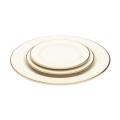 Ivory with Gold Rim Dinnerware Pattern