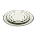 White with Silver Rim Dinnerware Pattern
