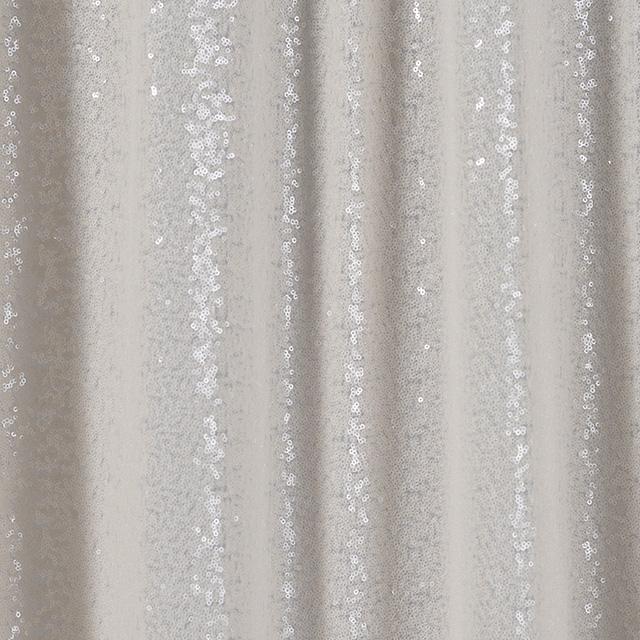 4 x 16 foot Ivory Glitz Drape