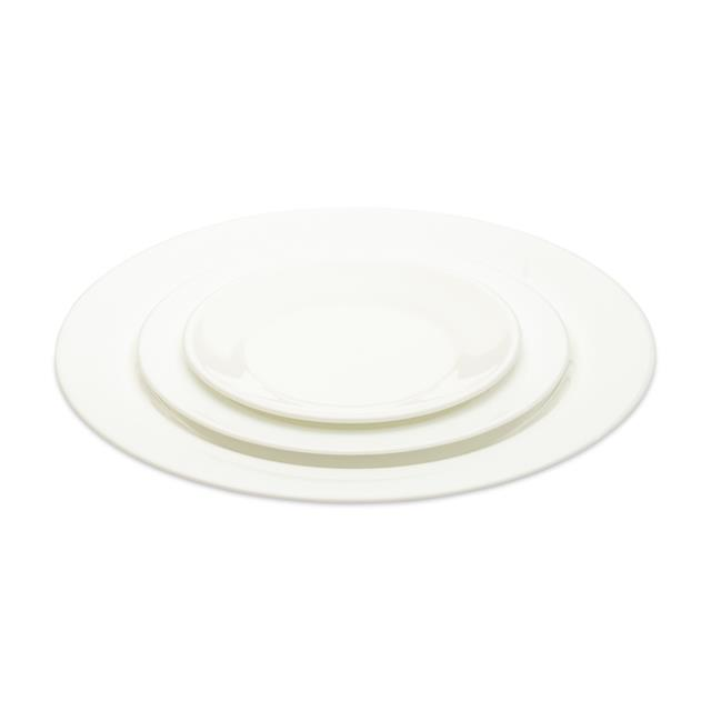 Plain White Dinnerware Pattern