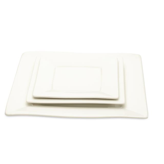 White Square Dinnerware Pattern