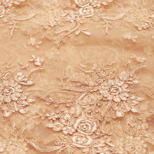 14 x 108 inch Champagne Elegance Lace Runner