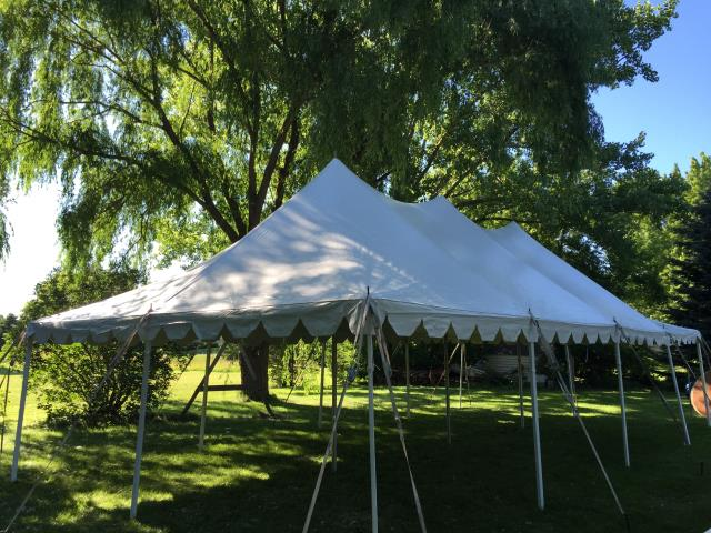 20 foot Wide Installed Pole Tents