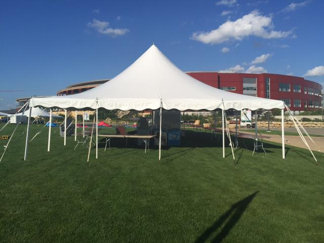 30 foot Wide Installed Pole Tents