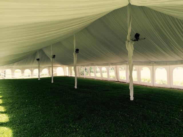 40 foot Wide Pole Tent Liner Kits
