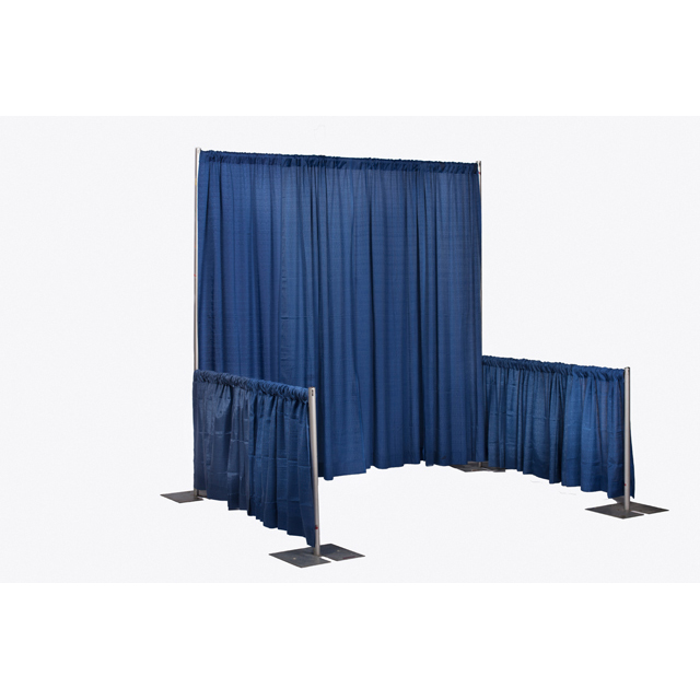 8 foot High Blue Pipe and Drape Sections