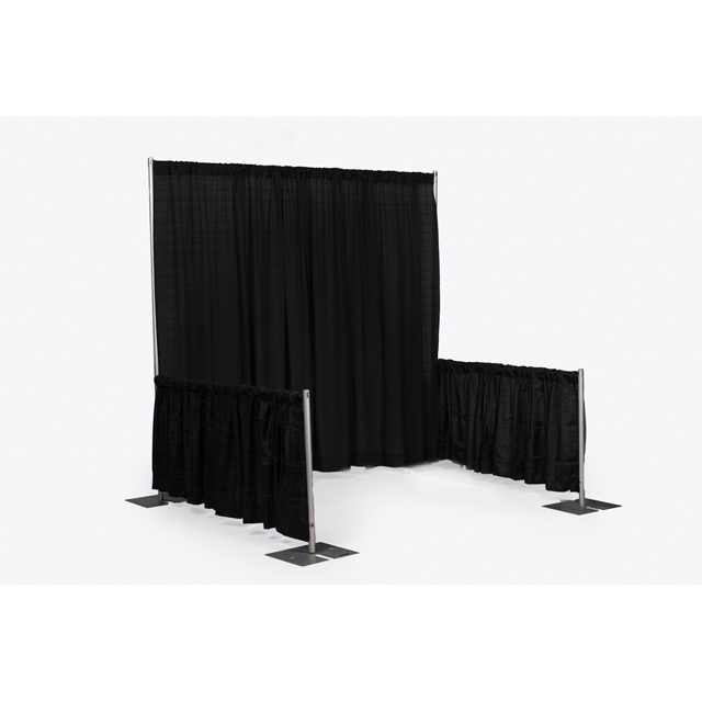 8 foot High Black Pipe and Drape Sections
