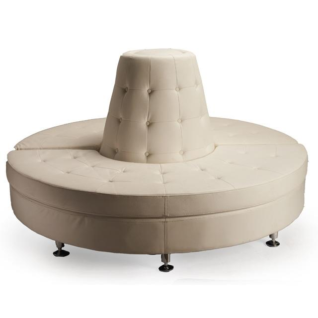 Circular White Couch