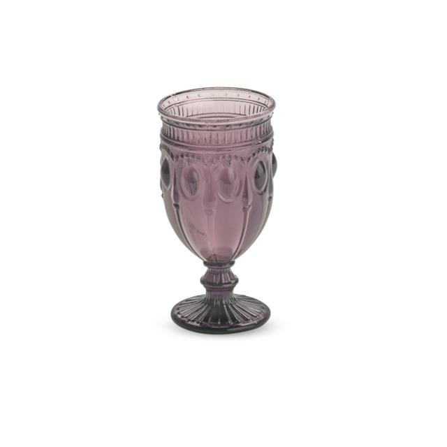 Purple 12 ounce Can Can Glass Rack of 25