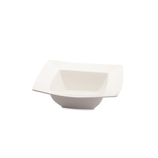 White Square Serving Bowls