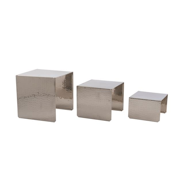 Hammered Steel Food Display Risers