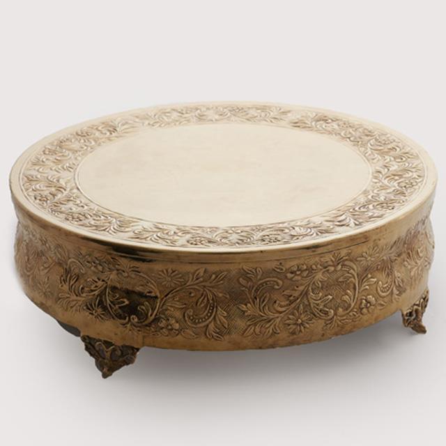 Round Brass Cake Stand