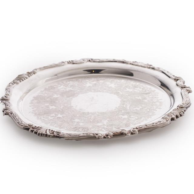 Round Silver Serving Trays