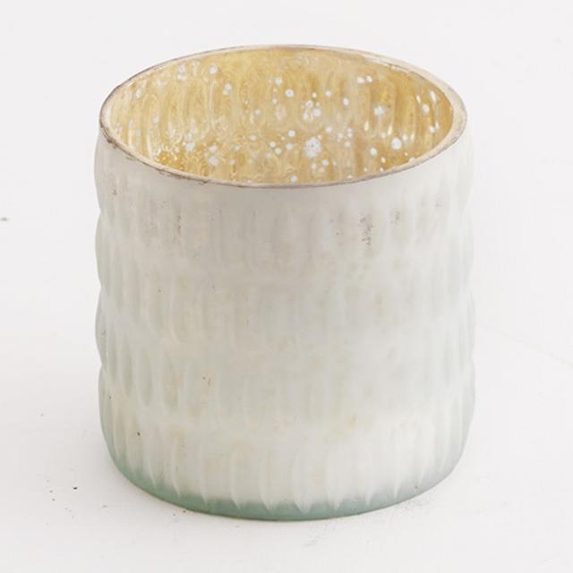 White Mercury Vases