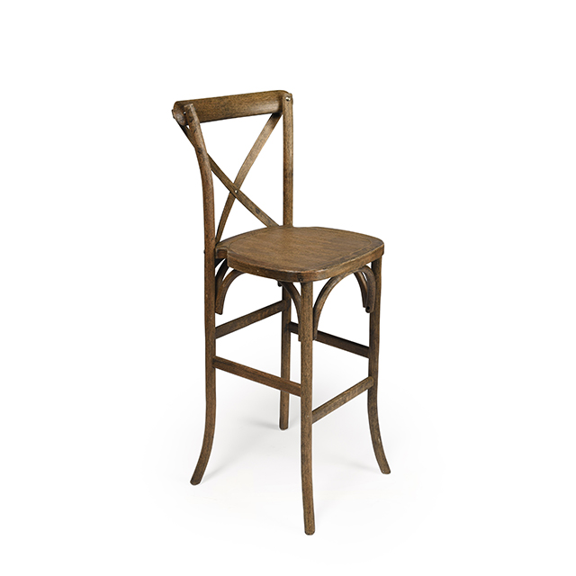 French Country Natural Bar Height Stool