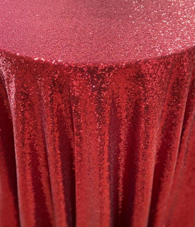 Red Glitz Tablecloths