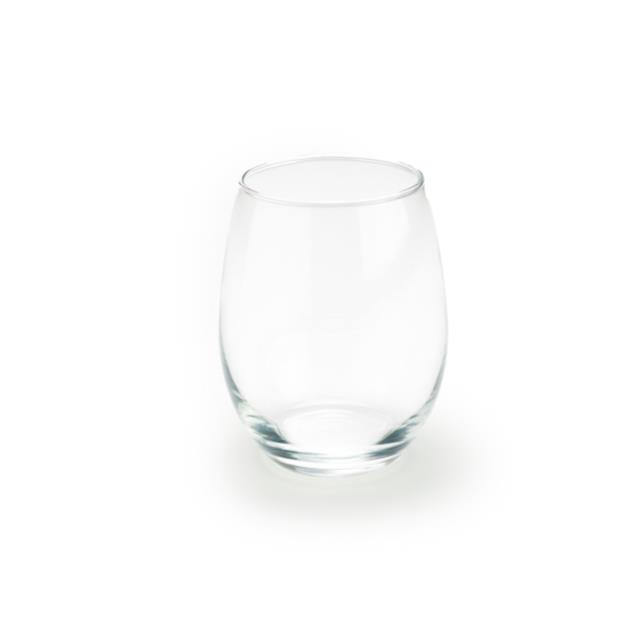 15 ounce Stemless EL Wine Glass Rack of 25