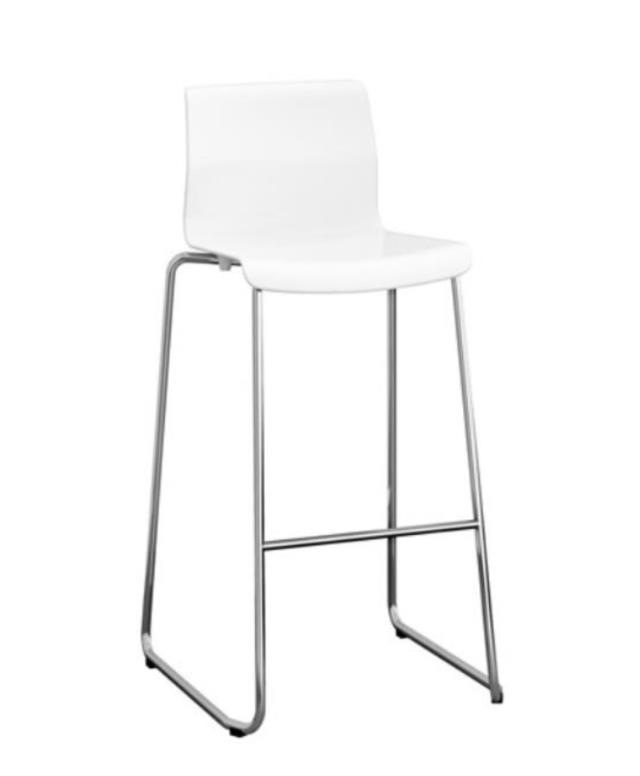 White Bar Stool with Back