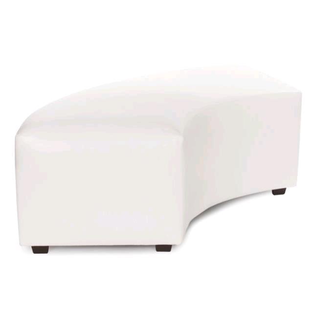 White Radius Bench
