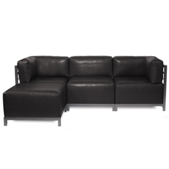 Axis Couch w/ Ottoman Titanium Frame