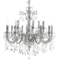 "48"" 24 Light Crystal Chandelier"
