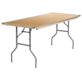 6 foot x 30 inch Wood Top Table