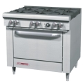 LP Commercial 6 Burner Range With Convection Oven
