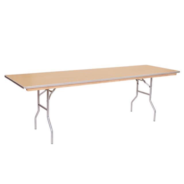 8 foot x 18 inch Skinny Wood Top Table